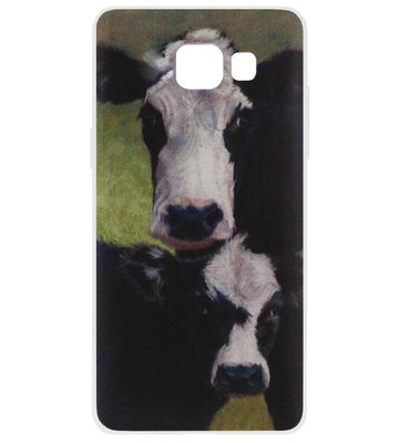 ADEL Siliconen Back Cover Softcase Hoesje voor Samsung Galaxy A3 (2016) - Koeien