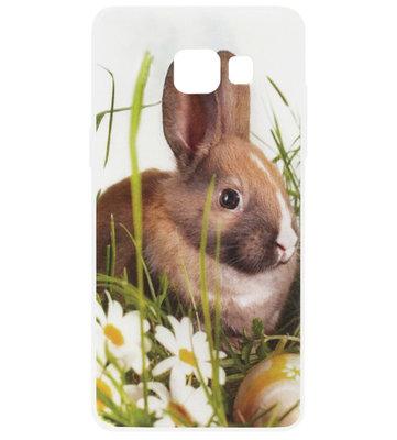 ADEL Siliconen Back Cover Softcase Hoesje voor Samsung Galaxy A3 (2016) - Konijn