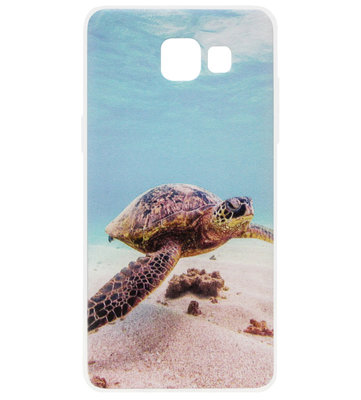 ADEL Siliconen Back Cover Softcase Hoesje voor Samsung Galaxy A3 (2017) - Schildpad