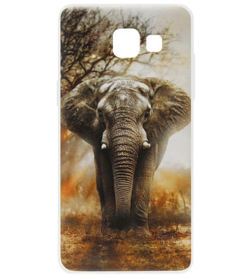 ADEL Siliconen Back Cover Softcase Hoesje voor Samsung Galaxy A3 (2017) - Olifant