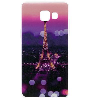 ADEL Siliconen Back Cover Softcase Hoesje voor Samsung Galaxy A3 (2017) - Parijs Eiffeltoren