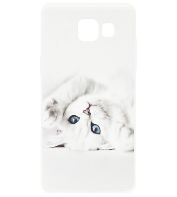 ADEL Siliconen Back Cover Softcase Hoesje voor Samsung Galaxy A5 (2017) - Katten Wit