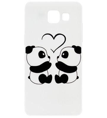 ADEL Kunststof Back Cover Hardcase Hoesje voor Samsung Galaxy A5 (2017) - Panda Familie