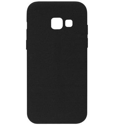 ADEL Siliconen Back Cover Softcase Hoesje voor Samsung Galaxy A3 (2017) - Zwart