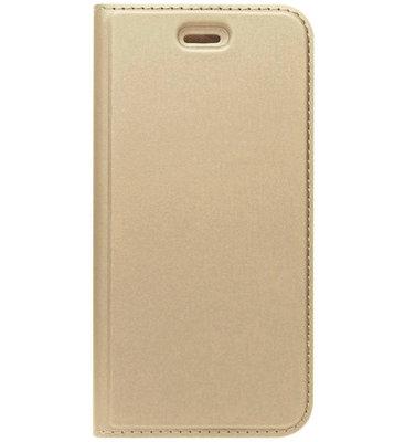 ADEL Premium Kunstleren Book Case Pasjes Magneetsluiting Hoesje voor Samsung Galaxy A3 (2017) - Goud