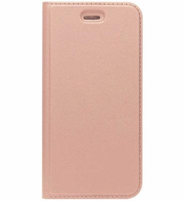 ADEL Premium Kunstleren Book Case Pasjes Magneetsluiting Hoesje voor Samsung Galaxy A3 (2017) - Rosegoud