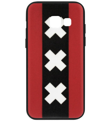 ADEL Siliconen Back Cover Softcase Hoesje voor Samsung Galaxy A5 (2017) - Amsterdam Andreaskruisen