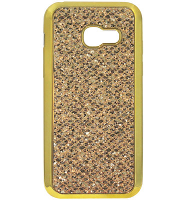 ADEL Siliconen Back Cover Softcase Hoesje voor Samsung Galaxy A5 (2017) - Bling Bling Glitter Goud