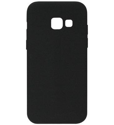 ADEL Siliconen Back Cover Softcase Hoesje voor Samsung Galaxy A5 (2017) - Zwart