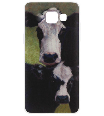 ADEL Siliconen Back Cover Softcase Hoesje voor Samsung Galaxy A5 (2017) - Koeien