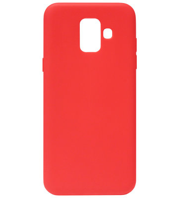 ADEL Siliconen Back Cover Softcase Hoesje voor Samsung Galaxy A6 Plus (2018) - Rood
