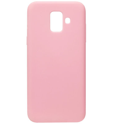 ADEL Siliconen Back Cover Softcase Hoesje voor Samsung Galaxy A6 Plus (2018) - Roze