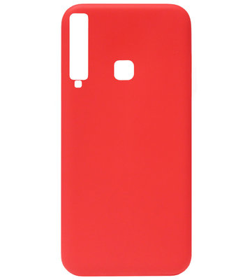 ADEL Siliconen Back Cover Softcase Hoesje voor Samsung Galaxy A9 (2018) - Rood