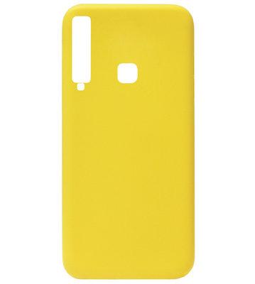 ADEL Siliconen Back Cover Softcase Hoesje voor Samsung Galaxy A9 (2018) - Geel