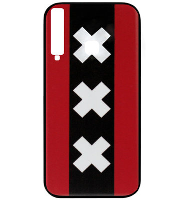 ADEL Siliconen Back Cover Softcase Hoesje voor Samsung Galaxy A9 (2018) - Amsterdam Andreaskruisen