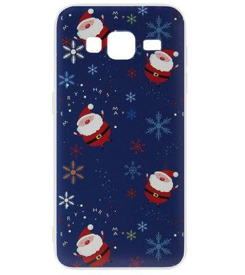 ADEL Kunststof Back Cover Hardcase Hoesje voor Samsung Galaxy J3 (2015)/ J3 (2016) - Kerstmis Kerstmannen
