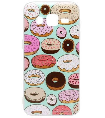 ADEL Kunststof Back Cover Hardcase Hoesje voor Samsung Galaxy J3 (2015)/ J3 (2016) - Donuts