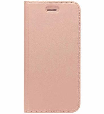ADEL Premium Kunstleren Book Case Pasjes Hoesje voor Samsung Galaxy J3 (2015)/ J3 (2016) - Rosegoud