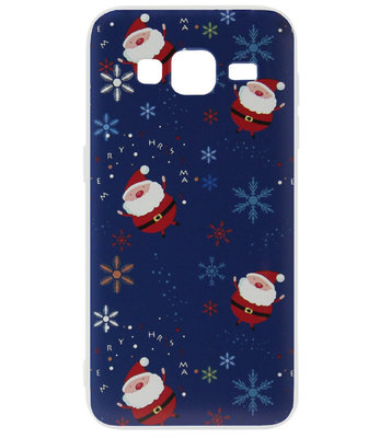 ADEL Kunststof Back Cover Hardcase Hoesje voor Samsung Galaxy J7 (2015) - Kerstmis Kerstmannen