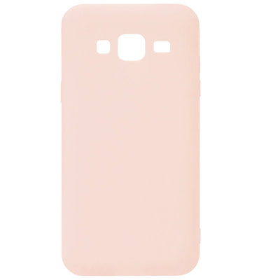 ADEL Siliconen Back Cover Softcase Hoesje voor Samsung Galaxy J3 (2015)/ J3 (2016) - Roze