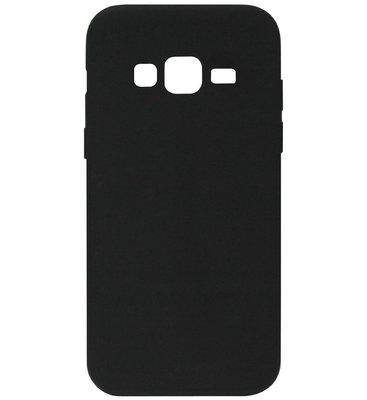 ADEL Siliconen Back Cover Softcase Hoesje voor Samsung Galaxy J3 (2015)/ J3 (2016) - Zwart