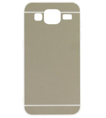 ADEL Siliconen Back Cover Softcase Hoesje voor Samsung Galaxy J3 (2015)/ J3 (2016) - Spiegel Zilver