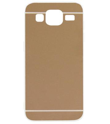 ADEL Siliconen Back Cover Softcase Hoesje voor Samsung Galaxy J3 (2015)/ J3 (2016) - Spiegel Beige