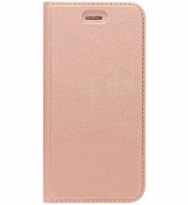 ADEL Premium Kunstleren Book Case Pasjes Hoesje voor Samsung Galaxy J7 (2017) - Rosegoud