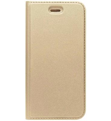 ADEL Premium Kunstleren Book Case Pasjes Hoesje voor Samsung Galaxy J7 (2017) - Goud