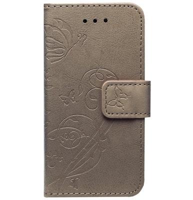ADEL Kunstleren Book Case Pasjes Hoesje voor Samsung Galaxy J7 (2017) - Vlinder Bruin