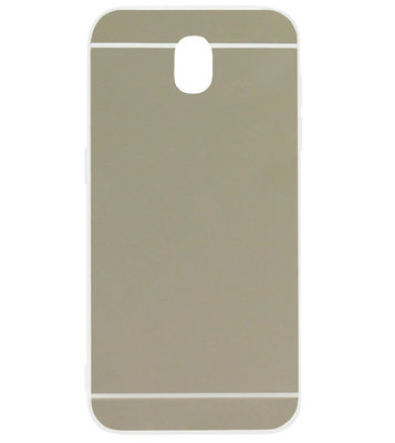 ADEL Siliconen Back Cover Softcase Hoesje voor Samsung Galaxy J7 (2017) - Spiegel Zilver