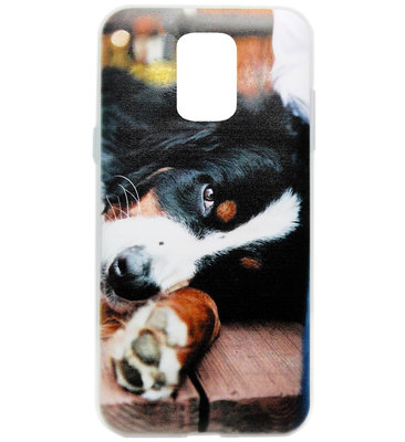 ADEL Siliconen Back Cover Softcase Hoesje voor Samsung Galaxy S5 (Plus)/ S5 Neo - Berner Sennenhond