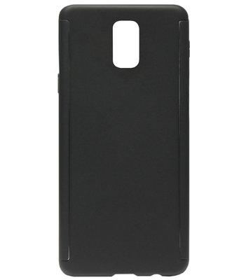 ADEL Kunststof Back Cover Hardcase Hoesje met Screenprotector voor Samsung Galaxy S5 (Plus)/ S5 Neo  - Zwart