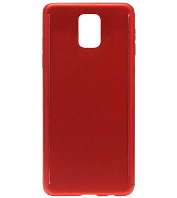 ADEL Kunststof Back Cover Hardcase Hoesje met Screenprotector voor Samsung Galaxy S5 (Plus)/ S5 Neo  - Rood