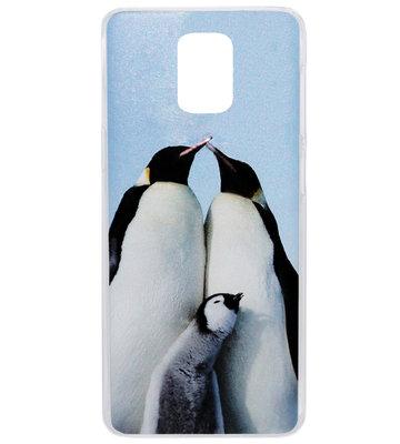 ADEL Kunststof Back Cover Hardcase Hoesje voor Samsung Galaxy S5 (Plus)/ S5 Neo  - Pinguin