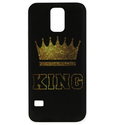ADEL Siliconen Back Cover Softcase Hoesje voor Samsung Galaxy S5 (Plus)/ S5 Neo - King Goud