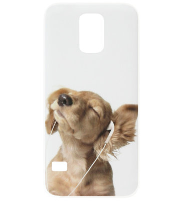 ADEL Kunststof Back Cover Hardcase Hoesje voor Samsung Galaxy S5 (Plus)/ S5 Neo - Hond Retriever