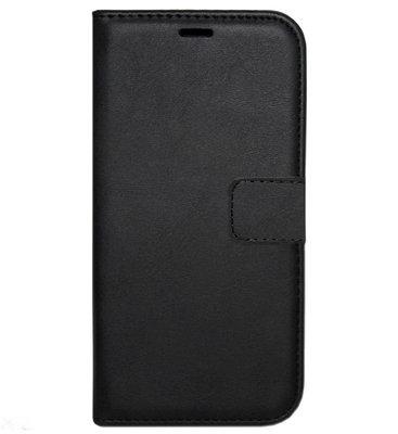 ADEL Kunstleren Book Case Pasjes Hoesje voor Samsung Galaxy S6 Edge Plus - Zwart