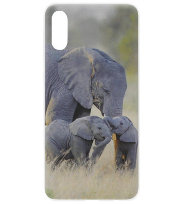 ADEL Siliconen Back Cover Softcase Hoesje voor Samsung Galaxy A50(s)/ A30s - Olifant Familie