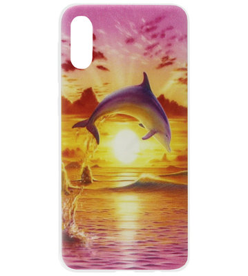 ADEL Siliconen Back Cover Softcase Hoesje voor Samsung Galaxy A50(s)/ A30s - Dolfijn Roze