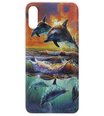 ADEL Siliconen Back Cover Softcase Hoesje voor Samsung Galaxy A50(s)/ A30s - Dolfijn