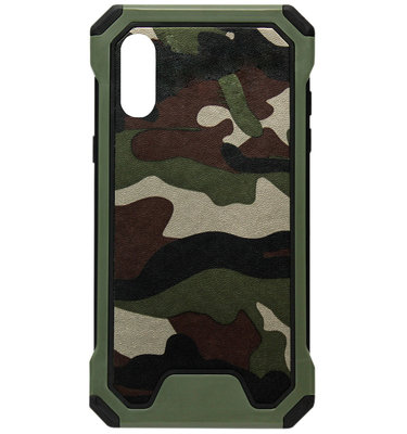 ADEL Kunststof Bumper Hardcase Hoesje voor Samsung Galaxy A50(s)/ A30s - Camouflage Groen