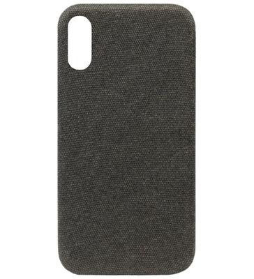 ADEL Kunststof Back Cover Hardcase Hoesje voor Samsung Galaxy A50(s)/ A30s - Stoffen Design Zwart