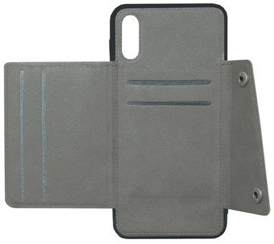 ADEL Kunstleren Back Cover Portemonnee Hoesje voor Samsung Galaxy A50(s)/ A30s - Pasjeshouder Grijs