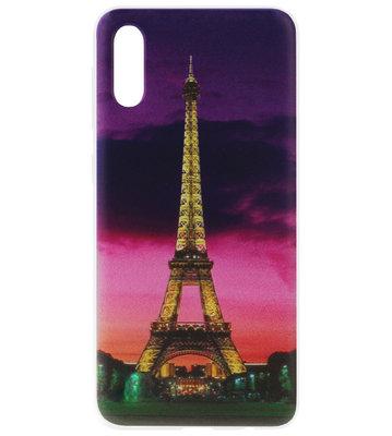 ADEL Siliconen Back Cover Softcase Hoesje voor Samsung Galaxy A70(s) - Parijs Eiffeltoren