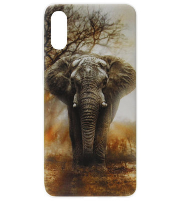 ADEL Siliconen Back Cover Softcase Hoesje voor Samsung Galaxy A70(s) - Olifant