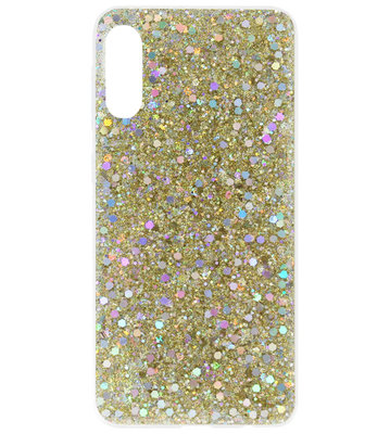ADEL Premium Siliconen Back Cover Softcase Hoesje voor Samsung Galaxy A70(s) - Bling Bling Goud