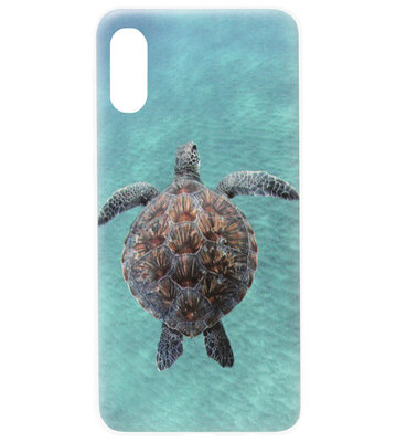 ADEL Siliconen Back Cover Softcase Hoesje voor Samsung Galaxy A70(s) - Schildpad Blauw