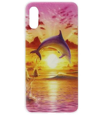 ADEL Siliconen Back Cover Softcase Hoesje voor Samsung Galaxy A70(s) - Dolfijn Roze