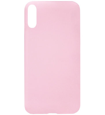 ADEL Siliconen Back Cover Softcase Hoesje voor Samsung Galaxy A70(s) - Roze